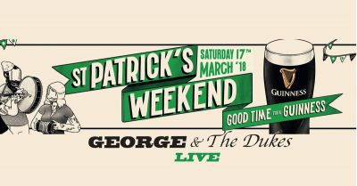 Live on St Patrick's Day with George and The Dukes!