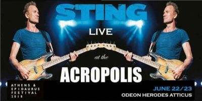 STING LIVE AT THE ACROPOLIS ATHENS