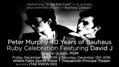 Peter Murphy 40 years of Bauhaus live in Athens - Αλλαγή Χώρου