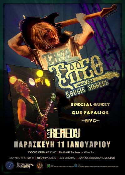 Theo and The Boogie Sinners + Special Guest, Gus Fafalios (NYC) 11/1